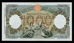 🔴 Italy 1000 Lire 28.11.1942 Xf P63 Wwii A Superbly Preserved Banknote Rare