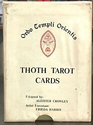1969 First Edition - Aleister Crowley Large Gold Box Thoth Tarot Cards Deck