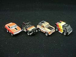 Micro Machines 1987 Collection Mixed Cars Lot Of 4 Vintage Toys By Galoob