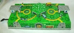 Vintage Toy Tin Lithograph Wind Up Bus Gas Station/garage, Key, Works