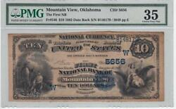 Fr. 546 1882 Db 10 National Banknote Mountain View Ok. Pmg Very Fine 35