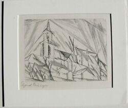 Lyonel Feininger Original Signed Etching – Teltow, 1 – 1914 Early 1950's Print