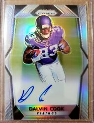 2017 Panini Prizm Dalvin Cook Silver Refractor Vikings Rookie Autograph 🔥🔥