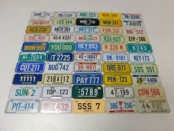 1979 Complete Set Of Honeycomb Cereal Honeycomb License Plate Premiums