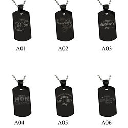 Stainless Steel Motherand039s Day Gifts Sign Multicolor Pendant Necklace Dog Tag 24and039and039