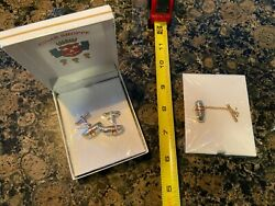 Cigar Shoppe Tie Clip And Cufflinks New Sealed In Box