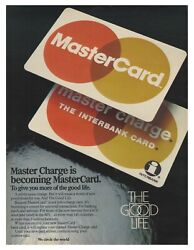1980 Mastercard - The Good Life - Master Charge Is Becoming Vintage Print Ad