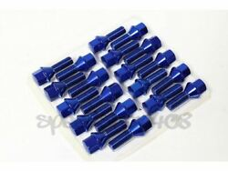 Z Racing 28mm Blue Lug Bolts 12x1.5mm For Bmw 3-series Cone Seat