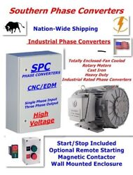 30 Hp Cnc Rotary Phase Converter-designed For Your Machinery With A Tefc Motor