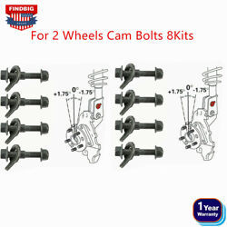 New Front Wheels Cam Bolts 8kits 12mm Adjustable Camber Correction Alignment Kit