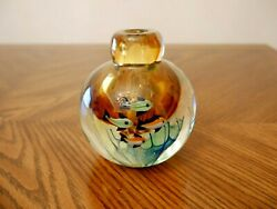 Vintage Studio Art Glass Sommerso Style Hand Blown Colorful Bud Vase