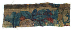 An Early Antique Tapestry Fragment w Leaves
