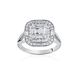 1.22ct Natural Diamond Ring 18carat White Gold Solitaire With Accents Wedding