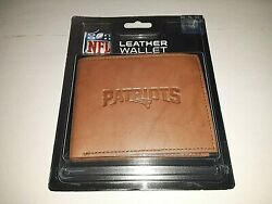 New England Patriots Embossed Leather Bi-fold Men's Wallet By Rico