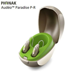 2x Genuine New Phonak Audeo Paradise P50-r Hearing Aids + Free Mini Charger