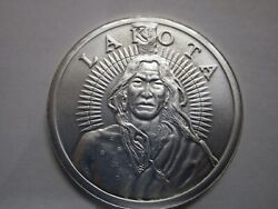 Free And Independent Lakota Crazy Horse .999 Fine Silver 1 Oz Round Coin Buffalo