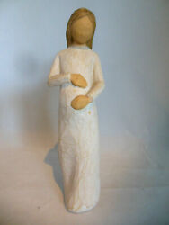 Willow Tree By Susan Lord Cherish - Pregnant Woman Figurine - Brown Hair