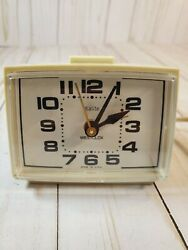 Vintage Westclox Clock Electric Alarm Works Perfect Made in USA. Mcm look