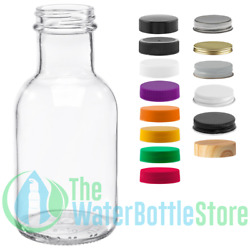 8 Oz Stout Reusable Clear Glass Water Bottle Drinking Small New Minimalist Best