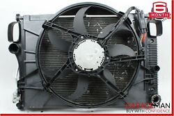 07-09 Mercedes S550 Cl550 Complete Engine Cooling Radiator Ac A/c Condenser