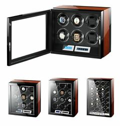 Automatic Wooden Watches Box Lcd Touch Screen Remote Control Watch Winder