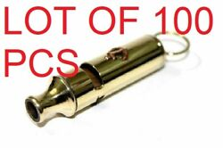 High Quality And Heavy Solid Brass Hunter Whistle --metropolitan Type Whistle Gift