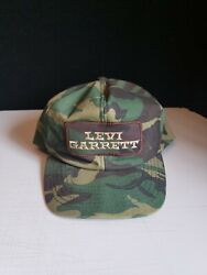 Vintage 80andrsquos Levi Garrett Chewing Tobacco Camouflage Camo Patch Snapback Usa Hat