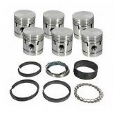 New Complete Piston Set W Rings And Pins Austin Healey 3000 Bn7 To Bj8 030 Over