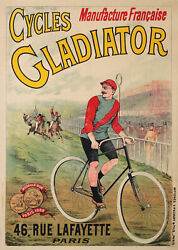 Old Poster Cycles Gladiator Manufacture 1897
