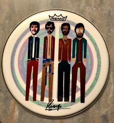 Ringo Starr Autographed Signed 14andrdquo Remo Drum Head Drumhead Coa The Beatles