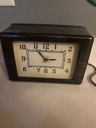 Vintage 1970s Old Collectible Lackner Made In Usa Clock - Tested And Working