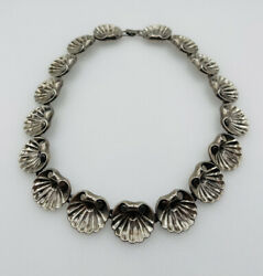 Parisina Boucher Vintage Mexican Sterling Silver Shell Necklace