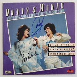 Donny And Marie Osmond Signed Songs From Their Tv Show Vinyl Record Album Rad