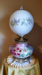 Gwtw Pastel Squat Base Lamp Electrified 3 Way Probably Old Sears