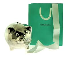 And Co. Sterling Silver .925 Pig Coin Bank W/ Bag + Ribbon Rare