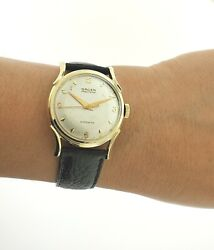 Gruen 31mm Precision Automatic Watch 14k Yellow Gold 480ss Collectible