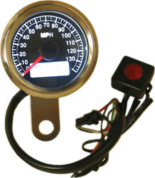 48mm Mini Electronic Speedometer Black Face Led Harley Heritage Softail 1995-06