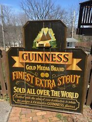 Guinness Extra Stout Label 3d Wood Beer Bar Sign Made In England - Local Pickup
