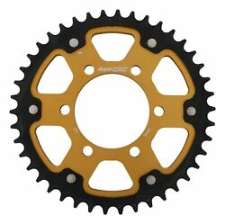 New Supersprox Stealth Sprocket, 42t For Marvic 530 Pitch 6 Bolts 00, Gold