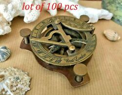 Antique Nautical Brass 3inch Handmade Sundial Compass Collectible Gift Item