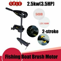 40lbs 12v Electric Trolling Motor Outboard Fishing Boat Engine Brush Motor New