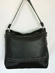 Black Hair-on Leather Dual Sided Concealed Carry Hobo/crossbody Bag Montana West