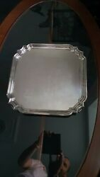 Salver Tray Sterling Silver Sheffield 1935 W Hutton And Sons Georgian