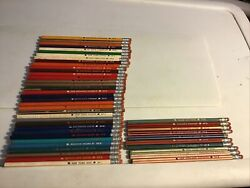 Lot Of 45 Nfl 70s Football Team Pencils 10striped And 35 Solid Rare Vintage