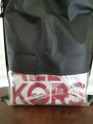 NWT Michael Kors North South Clear Tote The Michael Bag RED with MK STICKER $140.00