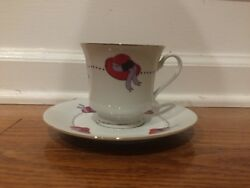 Darice Red Hat Society Tea Cup And Saucer Set +plastic Table Covers And Favors