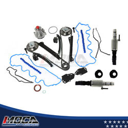 Timing Chain Kit Water Pump Cam Phaser Solenoid Gasket Set Fit 07-10 Ford 5.4l