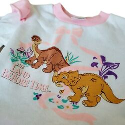Vintage The Land Before Time Toddlers Dress Rare 1988 New Old Stock 3t Jcpenney