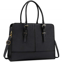 Laptop Bag for Women Leather 15.6 Inch Laptop Work Tote for Computer Bag Office $39.00