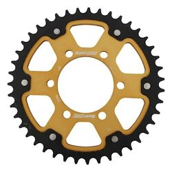 New Supersprox Stealth Sprocket, 7096-43 For Marvic 530 Pitch 6 Bolts 00, Gold